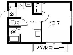ラクレール[1階]の間取り