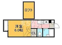 千葉県佐倉市西志津6丁目の賃貸アパートの間取り