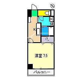 スカイブルー潮江[5階]の間取り