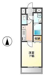 愛知県名古屋市港区正徳町1丁目の賃貸マンションの間取り