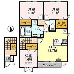 仮称D-room大津市雄琴6丁目[202号室号室]の間取り