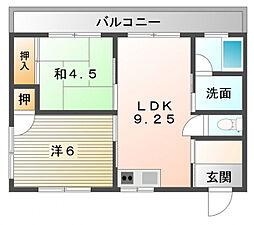 GS萱島[1階]の間取り