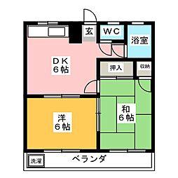 リゾートK[2階]の間取り