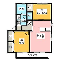 バリュージュ小川[2階]の間取り