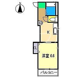 レジデンスさくら[3階]の間取り