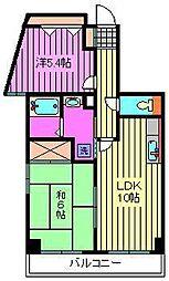 サンパティー戸田[5階]の間取り