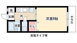 シャトー藤ヶ丘[102号室]の間取り