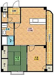 アーバングランベール[2階]の間取り