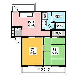 ロキシーコート[3階]の間取り