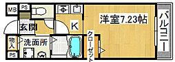 サンライズ栄和[1階]の間取り