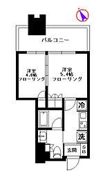 大崎ガーデンレジデンス 9階2Kの間取り