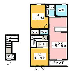 プランドールVII B[2階]の間取り