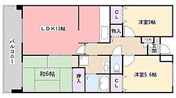 千葉県習志野市大久保1丁目の賃貸マンションの間取り
