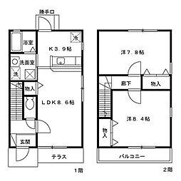ボヌール三原台[1階]の間取り