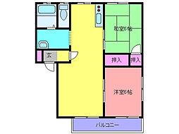 ハウスパインカウンティB[2階]の間取り