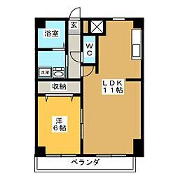 パルテール覚王山[2階]の間取り
