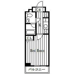 グロース西横浜[3階]の間取り