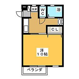 エクセル太平[2階]の間取り