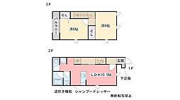 福岡県糸島市浦志2丁目の賃貸アパートの間取り