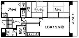 プリムローズ岸和田[702号室]の間取り