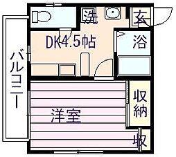 第1小石川ビル[203号室]の間取り