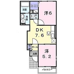 フィオーレ・遊B[1階]の間取り