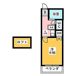 アーバニー気噴 I[2階]の間取り
