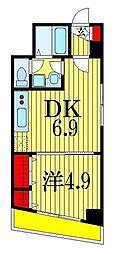 シャルム・ドゥ・プランドールI 2階1DKの間取り