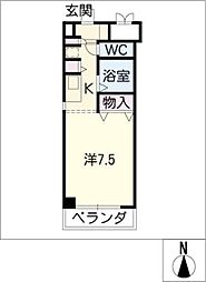 アーバンポイント304[7階]の間取り