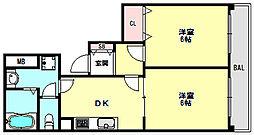 兵庫県明石市東藤江2丁目の賃貸マンションの間取り