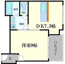 新町コーポ[7階]の間取り
