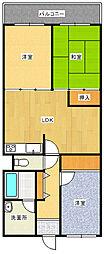 JR高崎線 鴻巣駅 徒歩32分の賃貸マンション 10階3LDKの間取り