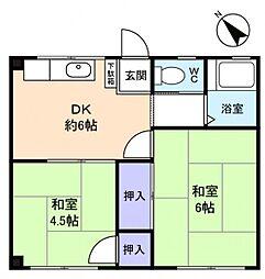 アルテハイム高根台[3階]の間取り