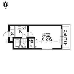 DETOM−1東福寺201[2階]の間取り