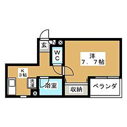 れ'すぱあすII[4階]の間取り