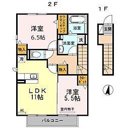 D-room Rico[2階]の間取り