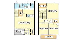 兵庫県姫路市神屋町2丁目の賃貸アパートの間取り