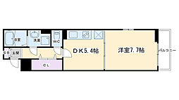 アビタシオン吉祥院 1階1DKの間取り