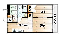 エトワールユウキ[2階]の間取り