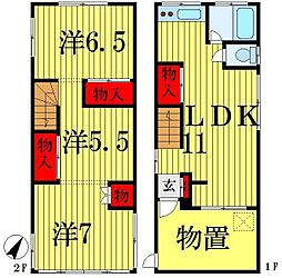 [一戸建] 東京都葛飾区東立石2丁目 の賃貸【/】の間取り