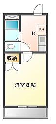 愛知県長久手市打越の賃貸マンションの間取り