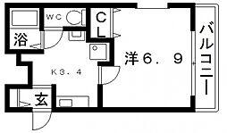 ラクレール[2階]の間取り