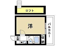 桜井第5マンション 1階1Kの間取り