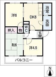アペックスA・B[2階]の間取り