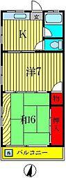 桜井コーポ[3階]の間取り