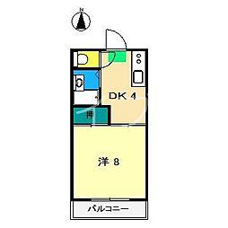 横町ハイツ[3階]の間取り