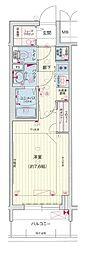 名古屋市営桜通線 久屋大通駅 徒歩5分の賃貸マンション 2階1Kの間取り