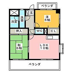 APPLE TOWN SAKURAI[3階]の間取り