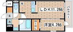 兵庫県神戸市長田区庄田町3丁目の賃貸マンションの間取り