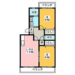 サニーフラワー[3階]の間取り